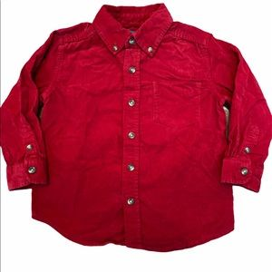 ✨3 for $30✨3T Boys Red Corduroy Button Down Shirt